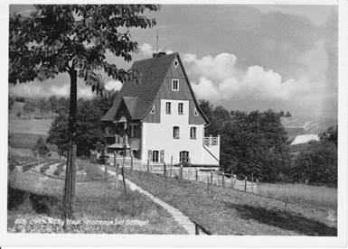 Joseph Wittigs Haus in Neusorge/Schlesien