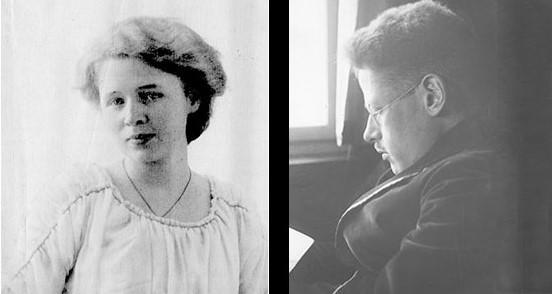 """Margarete Rosenstock Huessy (""""Gritli"""" 1893-1959) und Franz Rosenzweig (1886-1929)"""