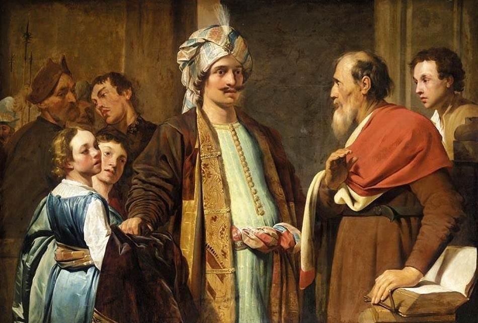 Pieter de Grebber - Der Prophet Elisa weist Naamans Gaben zurück (1630)