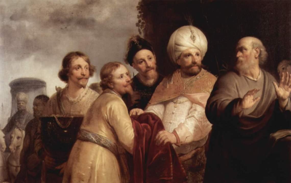 Pieter de Grebber - Der Prophet Elisa weist Naamans Gaben zurück (1637)