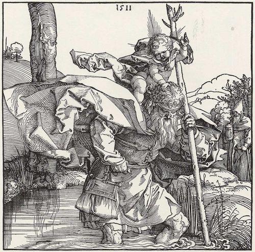 Albrecht Dürer - Der Heilige Christophorus (Holzschnitt 1511)